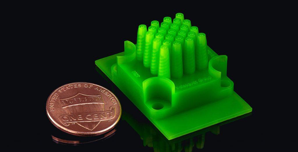 نمونه کاری از رزین Microfine در پرینت سه بعدی قطعات دقیق
