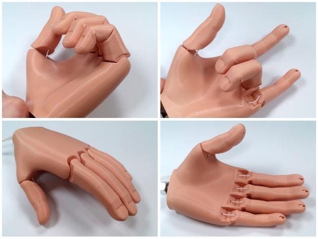 پروتز دست پرینت شده با فیلامنت PETG رنگ پوست